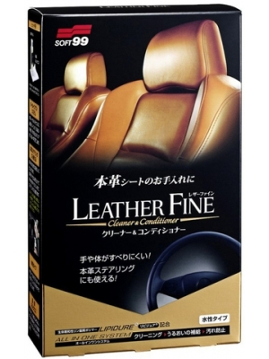 SOFT99 Leather Fine-Cleaner Conditioner 2w1 100 ml