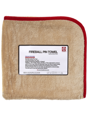 Fireball Pin Towel Red 72x95 cm