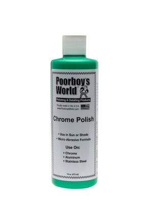 Poorboy's World Chrome Polish Chrom Aluminium Stal 473ml