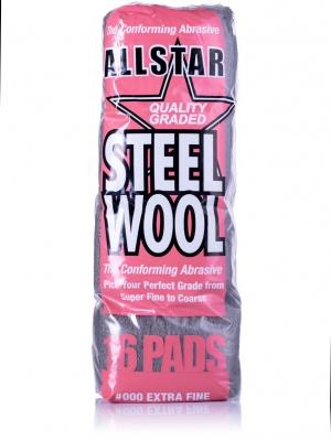 Wełna Stalowa DS Steel Wool Pads 000 Extra Fine