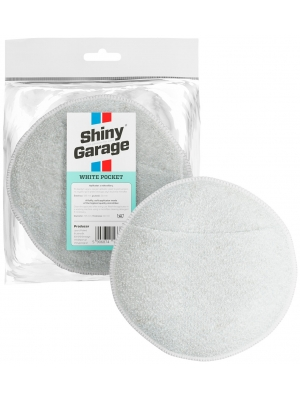 Shiny Garage White Pocket Micorfiber Applicator 13.5x3cm