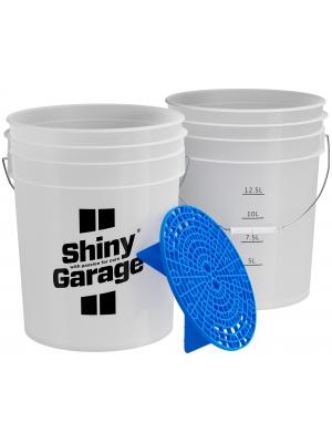 Shiny Garage Wiadro z Separatorem Blue 20L