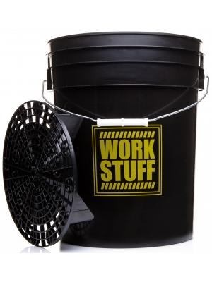 "Work Stuff ""RINSE"" Czarne Wiadro + Separator"