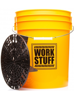 "Work Stuff ""WASH"" Żółte Wiadro + Separator"