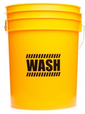 """Work Stuff """"WASH"""" Żółte Wiadro"""